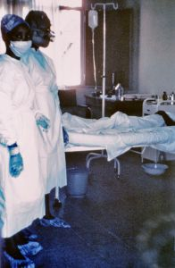 Ebola virus infection isolation and treatment is needed to decrease spread.